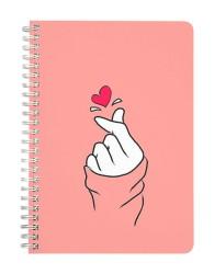 Korean Heart Notebook