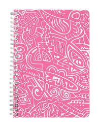 Pink Abstract Notebook