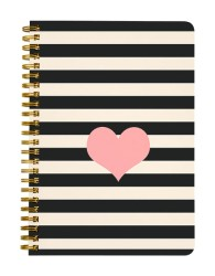 Stripes and Heart Notebook