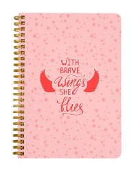 With Brave Wings She Flies Notebook