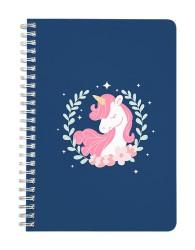 Pink Blue Unicorn Notebook