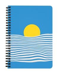Minimalist Ocean Scenery Notebook