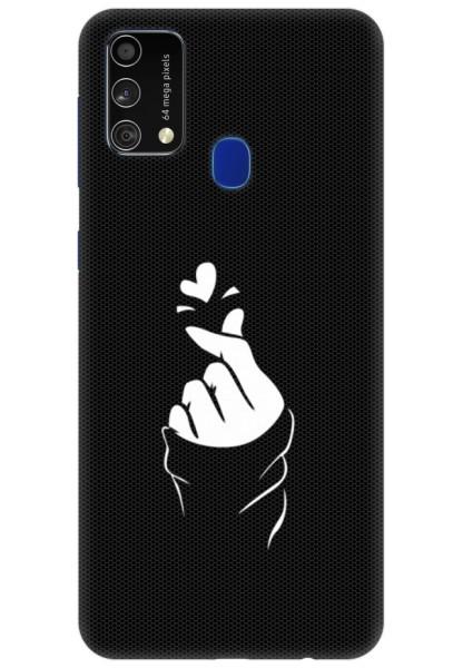 Black Korean Heart for Samsung Galaxy F41