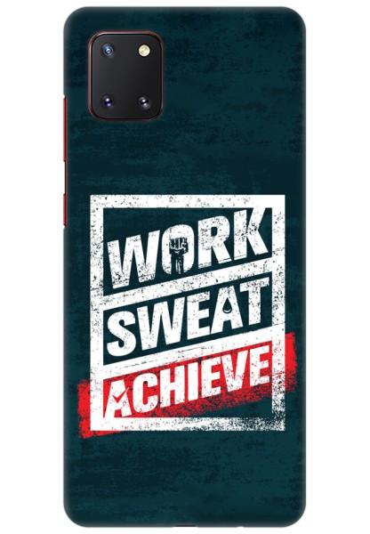 Work Sweat & Achieve for Samsung Galaxy Note 10 Lite