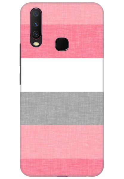 Pink and Grey Shade Stripes for Vivo Y15