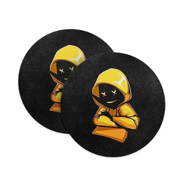 Yellow Hoodie Boy Coasters