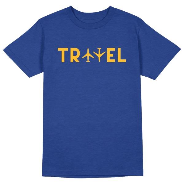 Travel Round Collar Cotton Tshirt