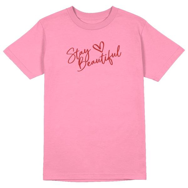 Stay Beautiful Round Collar Cotton Tshirt