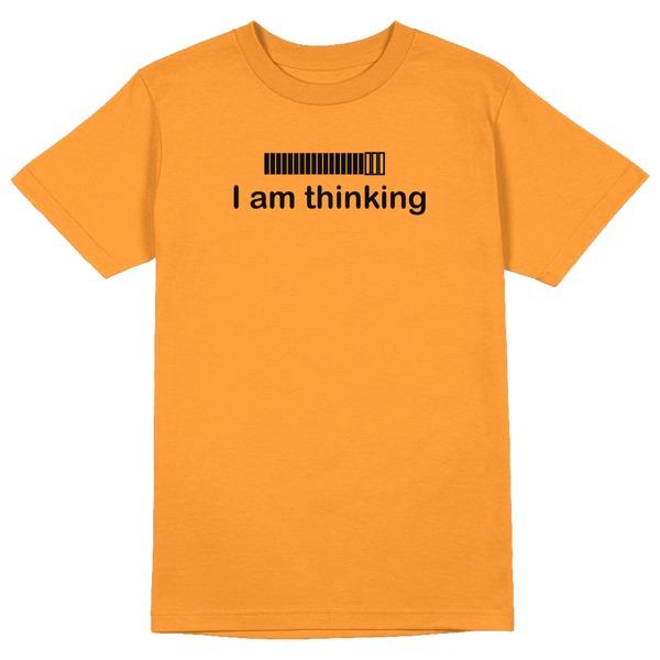 Thinking Round Collar Cotton Tshirt