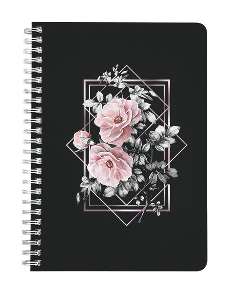 Floral Abstract Geometric Design Notebook