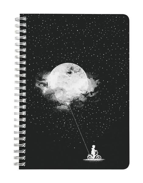 Moon Balloon Notebook