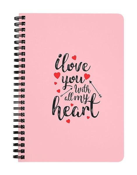 I Love You with all My Heart Notebook
